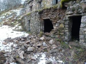 Einsturz an der Kaserne (Quelle: Les Amis du Hartmannswillerkopf)