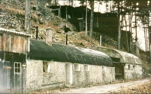 Hier die Tonnenbaracke im Jahre 1970